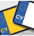 cyprus number plate vector image