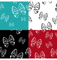 butterfly pattern set vector image