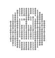 Matrix head sign vector image