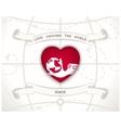Love around the world vector image