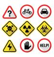Warning signs - danger risk stress - flat design vector image