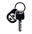 Car Alarm and Key Icon vector image
