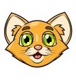 Smiling little kitten head 2 vector image
