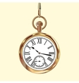 Golden vintage pocket watch vector image