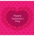 Valentine card seamless pattern vector image