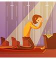 Praying Man vector image