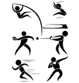 Sport icon design for many sports vector image