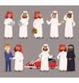 Arab prince man vector image