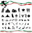 ITALIAN symbol set with flag vector image