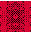 Ladybird with polka dots vector image