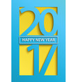 modern happy new year 2017 greeting card vector image