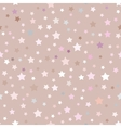 seamless pattern with stars pink beige vector image