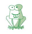 shadow funny toad cartoon vector image