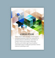 template brochure design vector image