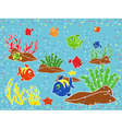 Underwater marine life vector image