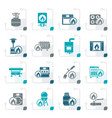 stylized household gas appliances icons vector image vector image