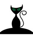 halloween cat sign 109 vector image