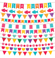 Festa Junina bunting flags set vector image