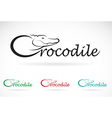 Crocodile text vector image