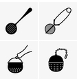 Tea infusers vector image vector image