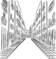 buildings in town drawing vector image