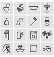 line bathroom icon set vector image