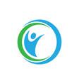circle human logo image vector image