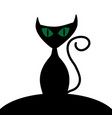 halloween cat sign 109 vector image