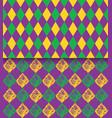 mardi gras carnival rhombic pattern fat or vector image