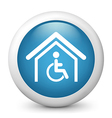 Disability glossy icon vector image vector image