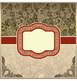 ornate vintage template vector image vector image