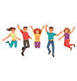 young and happy people vector image