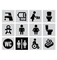 man woman restroom vector image