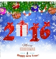 2016 New Years background with gift vector image