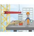 Construction worker on platform vector image