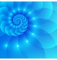Blue spiral abstract background vector image