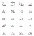 Construction machinery icon set vector image vector image