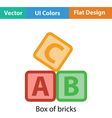 Box of bricks icon vector image vector image