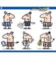 Businessmen cartoon characters set vector image