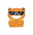 cute bear smiling vector image
