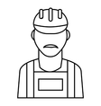Employee oil industry icon outline style vector image