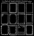 Set of Hand drawn frames on blackboard vector image