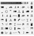 Set of Singapore stickers vector image