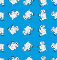 Sheep white on blue vector image