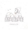 traveler mountain vector image vector image