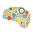 Isolated gears and brain design vector image