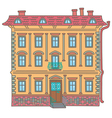 Ancient house vector image