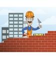 Mason building red brick wall vector image