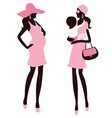 Fashionable pregnancy and maternity vector image vector image