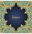 Frame for text in arabian style vector image